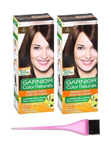 Garnier Garnier 2 Adet Color Naturals Saç Boyası 4 + Boya Fırçası Renksiz